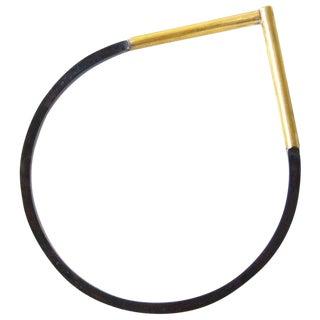 Heidi Abrahamson Sterling Brass Bangle Bracelet For Sale