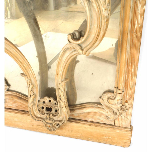 Brown French Louis XV Style '19th Century' Console Table and Mirror For Sale - Image 8 of 9