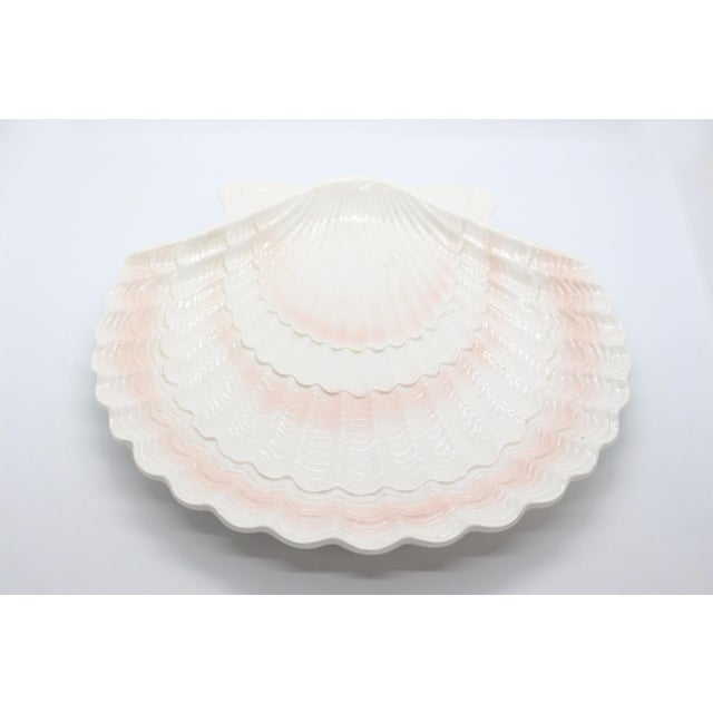1950's Otagiri Porcelain Scallop Shell Serving Platter From Japan For Sale In Los Angeles - Image 6 of 6
