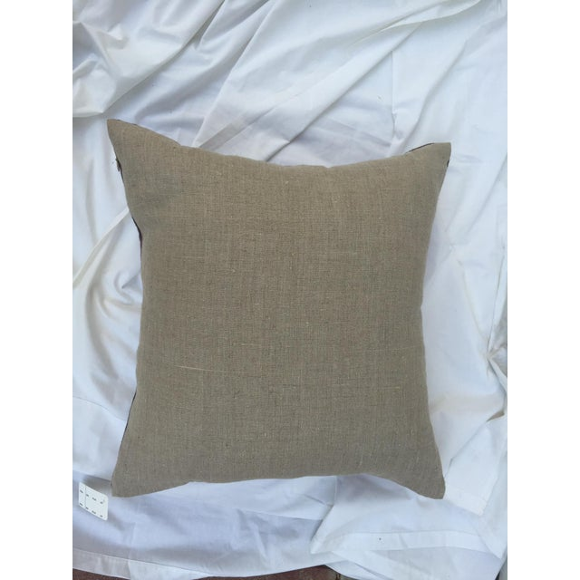 Tie-Dye Woven Thai Linen Pillows - Pair For Sale In Los Angeles - Image 6 of 6