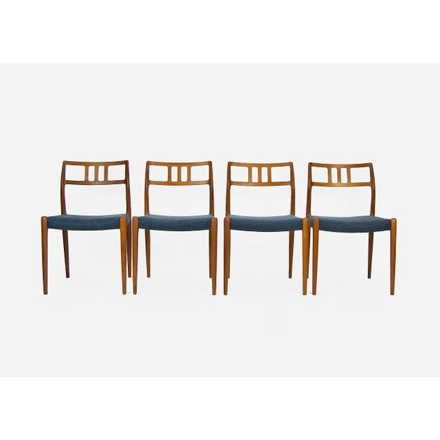 Niels O. Møller Teak Model 79 Dining Chairs - Set of 4 For Sale - Image 12 of 12