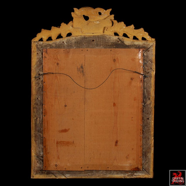 Superb French Regency Period Giltwood Wall Mirror For Sale - Image 10 of 12