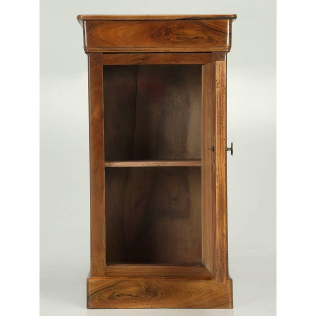 Brown Antique French Louis Philippe Walnut Nightstand For Sale - Image 8 of 9