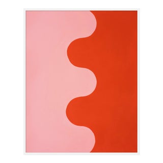 "Large ""Hairpin Serpentine in Fire Coral & Soft Pink"" Print by Stephanie Henderson, 41"" X 51"" For Sale"