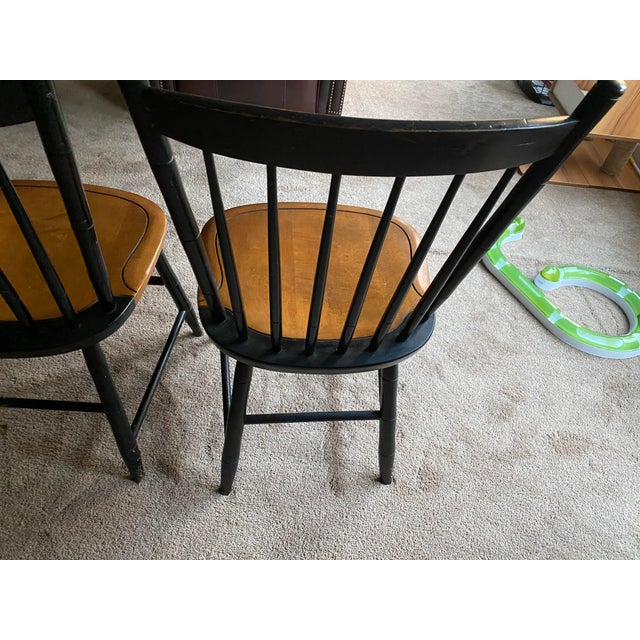 American Stencil Hitchcock Chairs- A Pair For Sale - Image 3 of 9