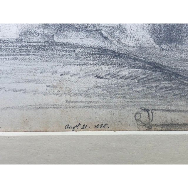 Drawing/Sketching Materials 19th Century English Graphite Landscape Drawing of Pevensey Castle Ruins 1855 For Sale - Image 7 of 8