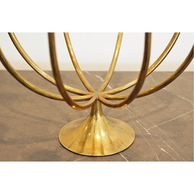 Mid 20th Century Pair Illums Bolighus Brass Candelabra For Sale - Image 5 of 10