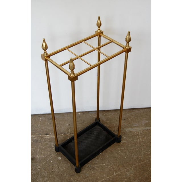 French Brass & Iron Umbrella Stand - Image 2 of 9