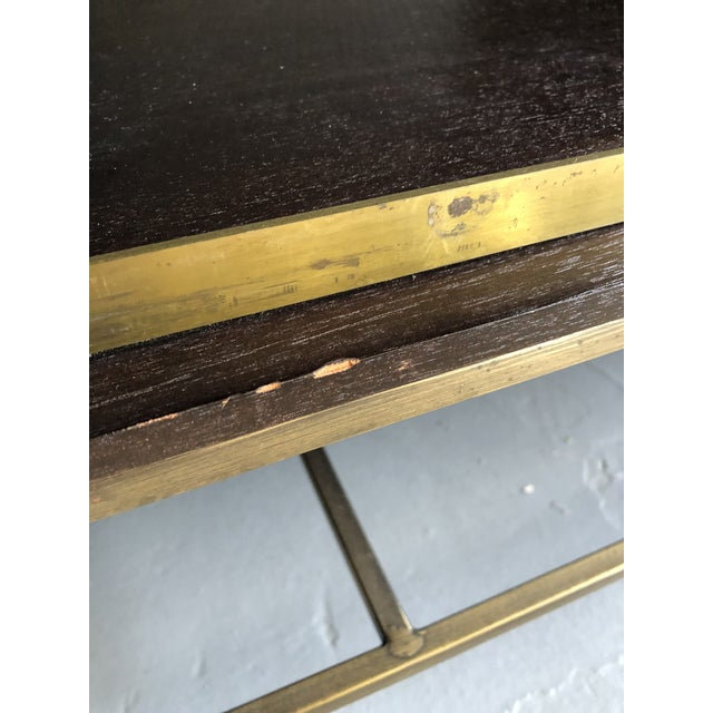 Mid Century Paul McCobb for Calvin Irwin Collection Dark Brown Finish and Brass Buffet For Sale - Image 11 of 13