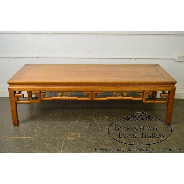 Fine quality 19th century carved hardwood, long rectangular coffee table. Store Item#: 17916-fwmr