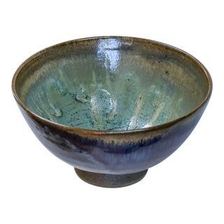 Vintage Japanese Pottery Bowl, Signed For Sale