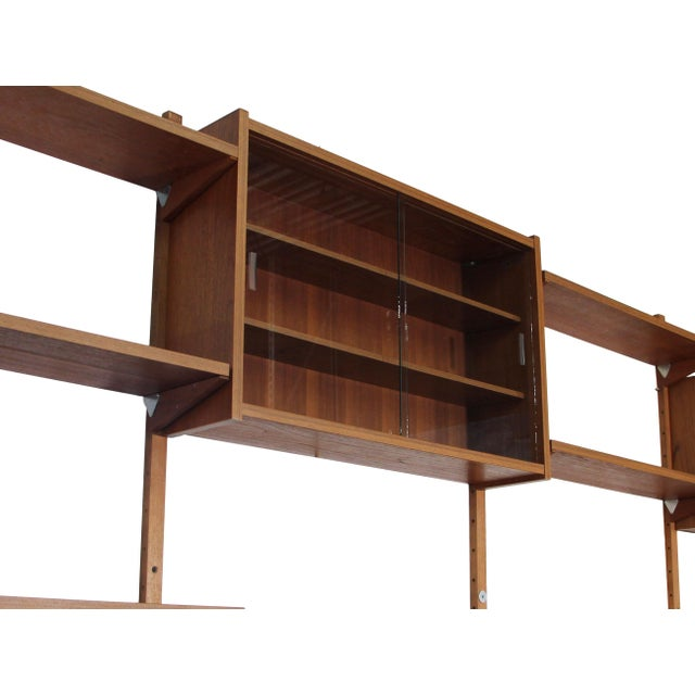 Mid Century Danish 7 Bay Teak Shelving Unit by Ps System For Sale - Image 4 of 13