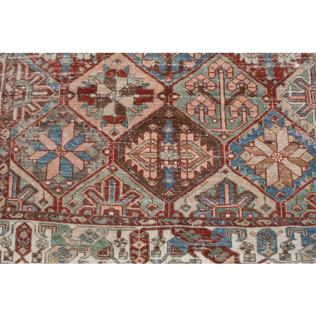 Boho Chic Antique Persian Distressed Bakhtiari Rug - 6′7″ × 10′ For Sale - Image 3 of 5