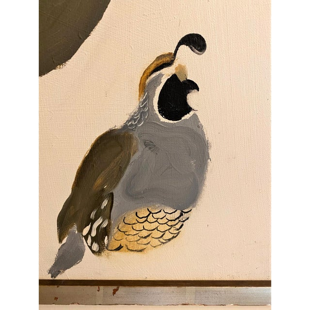 1965 Valley Quail California Wildlife Oil Painting by Bryan Wilson, Framed For Sale - Image 9 of 12