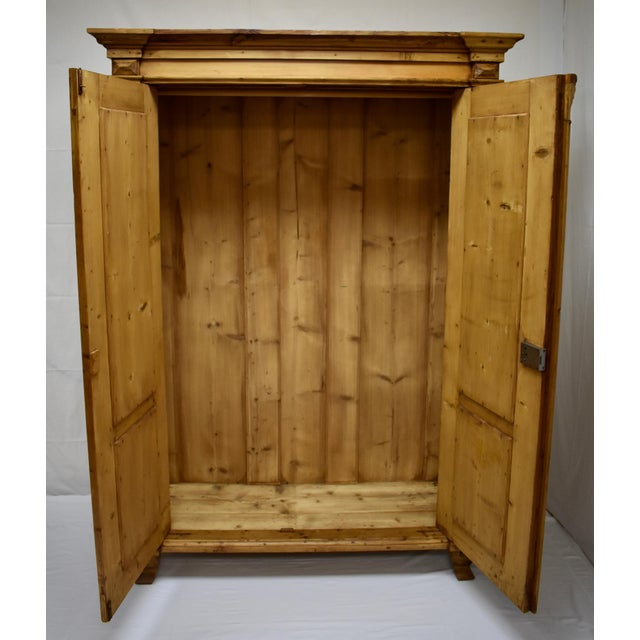 Pine Two Door Armoire For Sale - Image 12 of 13