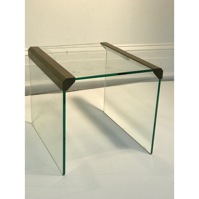 "Pair of Pace Collection waterfall side tables or accent tables. Measuring 15 3/4"" by 14"", 13"". 1970's, in good condition...."