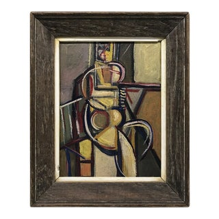 Cubist Figural Oil Painting