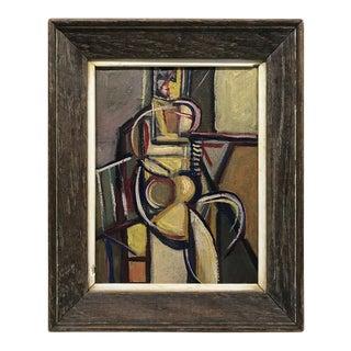 Cubist Figural Oil Painting