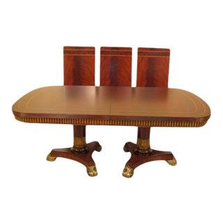 Maitland Smith #3530-282 Regency Style Mahogany Dining Room Table For Sale