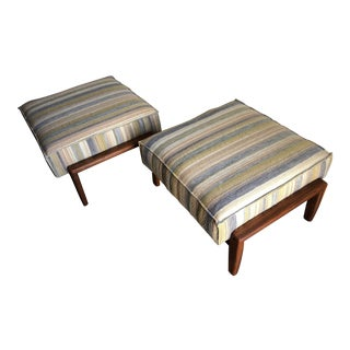 Vintage Mid Century Modern Danish Style Bench/ Ottoman / Foot Stools (A Pair) For Sale