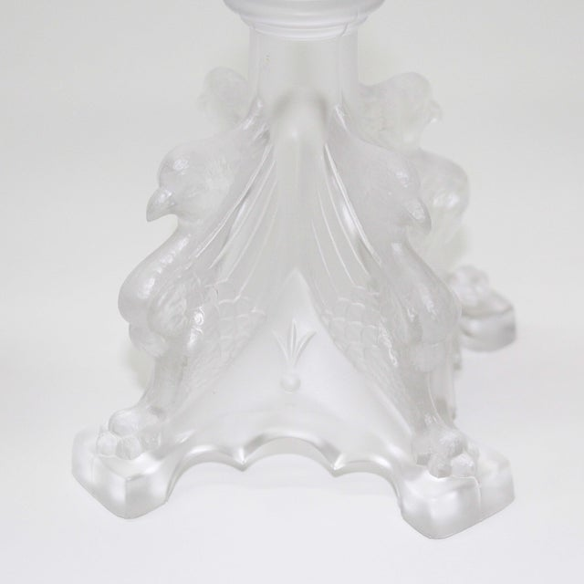 Val St. Lambert Frosted Candle Holders - Set of 3 - Image 5 of 6