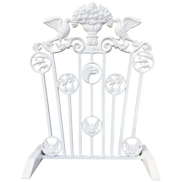 Presidential Wrought Iron Firescreen, Truman Little White House, Key West, Fl For Sale - Image 12 of 12