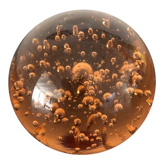 Murano Italian Controlled Bubbles Paperweight For Sale