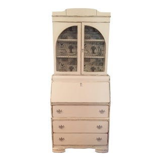 1940s French Country Hutch on Secretary Desk For Sale