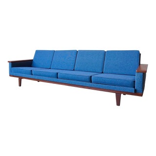 Danish Paddle Arm Sofa