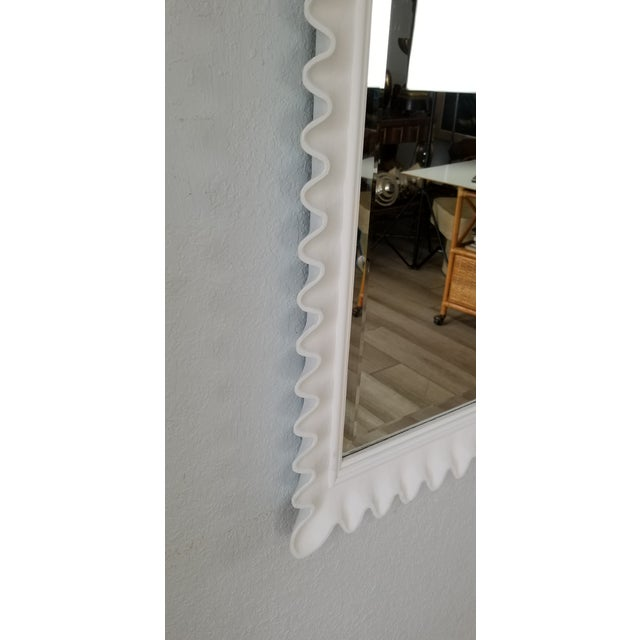 Marge Carson Scalloped Wall Mirror . For Sale In Miami - Image 6 of 9