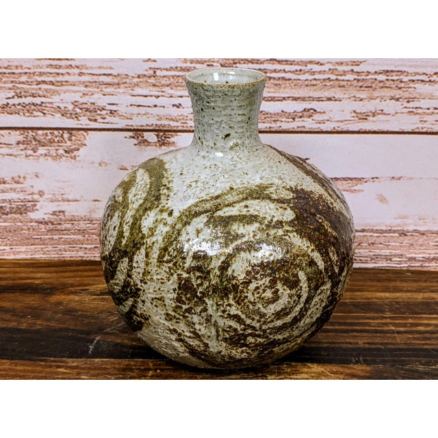 Vintage Mutsuo Yanagihara Studio Pottery Vase For Sale - Image 6 of 6