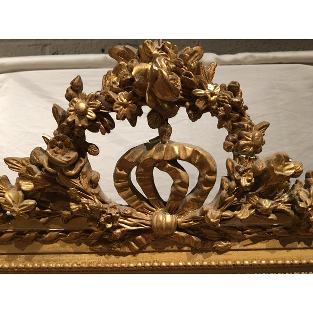 French Louis XVI Style Mirror For Sale - Image 3 of 9