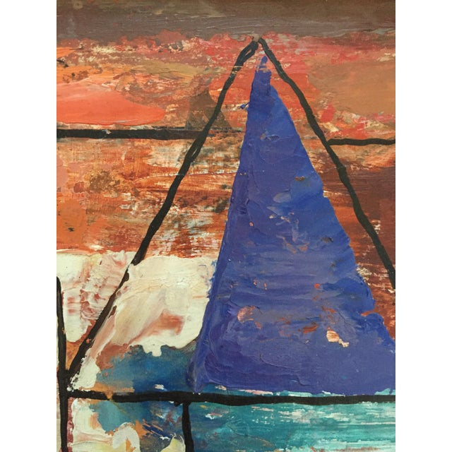 1940s 1940s Ellwood Graham Abstract Landscape Painting For Sale - Image 5 of 10