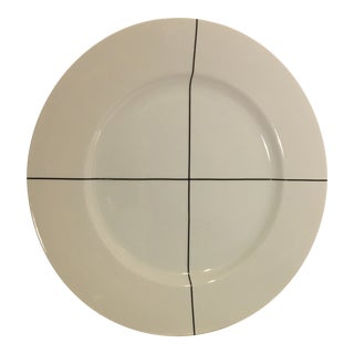 "20th C Minimalist Swid-Powell ""Signature Black"" Porcelain Chop Plate by Richard Meier For Sale"