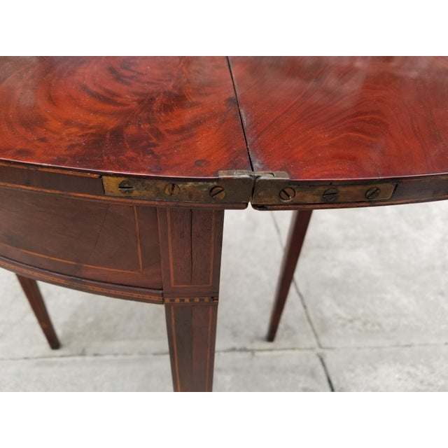 Antique Rosewood Hepplewhite Card Table For Sale - Image 11 of 13