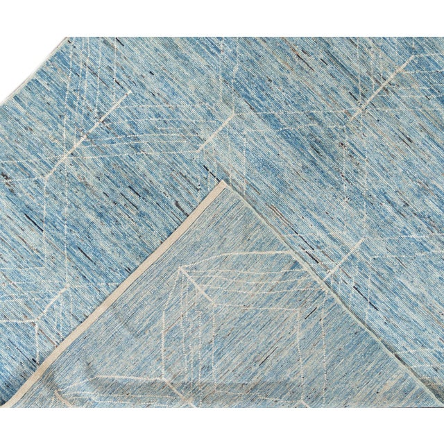 """Abstract 21st Century Modern Moroccan-Style Rug, 7'0"""" X 10'0"""" For Sale - Image 3 of 11"""