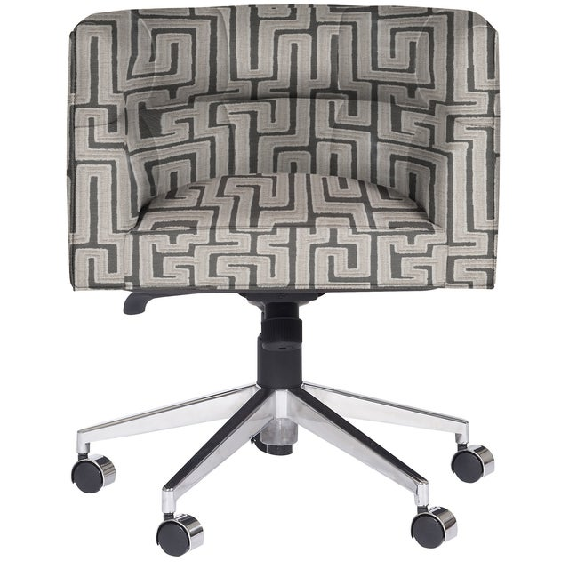 Transitional Casa Cosima Perry Desk Chair, Westridge Graphite For Sale - Image 3 of 4