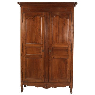 Antique French Louis Phillip Walnut Armoire For Sale