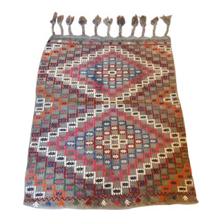 "Anatolian Nomad Embroidered Cecim - 3'10"" x 2'5"" For Sale"