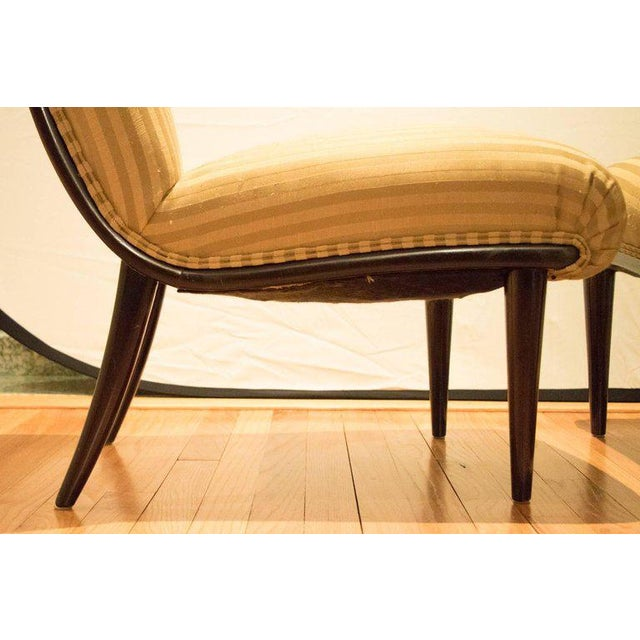Viennese Biedermeier Style Art Deco Flare Slipper Chairs - a Pair - Image 7 of 10