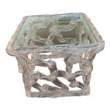 Image of Tony Duquette Acrylic Ribbon End Table For Sale