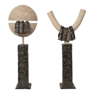 Pair of Important Gustave Tiffoche Sculptures For Sale