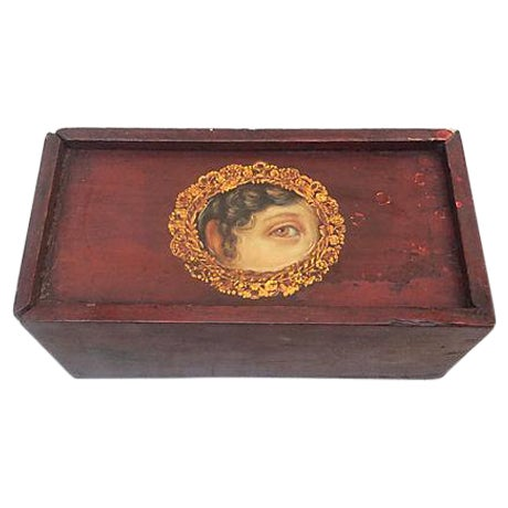 Antique Painted Eye Mystery Box - Image 1 of 6