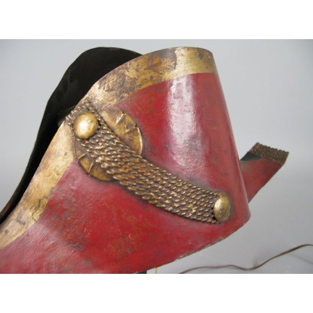 Antique French Napoleonic Chapeau Lamp For Sale In New York - Image 6 of 8