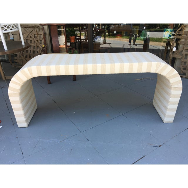 Vintage 1970s Waterfall Console Table - Image 5 of 11