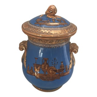 Striking Lusterware Cover Urn For Sale