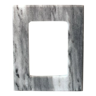 New Grey & White Marble Frame For Sale