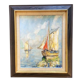 Swedish Mid Century Painting by Knut Norman For Sale