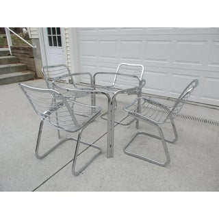 1970s Mid-Century Modern Chrome Dining Set - 5 Pieces Preview