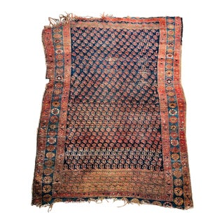 Antique Hand Knotted Flat Weave Rug For Sale